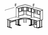 Bush Advantage Hansen Cherry Design 24 - Plan For 8' by 8' Work Station
