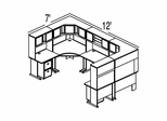 Bush Advantage Hansen Cherry Design 42 - Plan For 12' by 7' Work Station