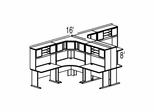 Bush Advantage Hansen Cherry Design 45 - Plan For Multi-Station 8' by 8' Work Station