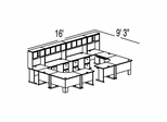Bush Advantage Hansen Cherry Design 50 - Plan For 16' by 10' Work Station