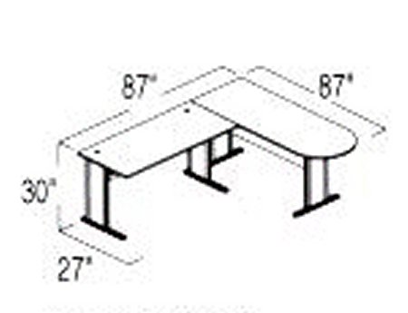 Bush Advantage Hansen Cherry Design 8 - Plan For Smaller Work Station