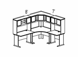 Bush Advantage Light Oak Design 15 - Plan For 8' by 7' Work Station