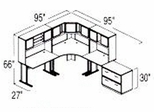 Bush Advantage Light Oak Design 29 - Plan For 8' by 10' Work Station