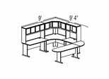 Bush Advantage Light Oak Design 37 - Plan For 9' by 10' Work Station
