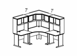 Bush Advantage Medium Cherry Design 13 - Plan For Smaller Work Station