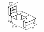 Bush Advantage Medium Cherry Design 32 - Plan For 9' by 6' Work Station