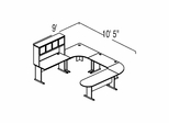 Bush Advantage Medium Cherry Design 40 - Plan For 9' by 11' Work Station