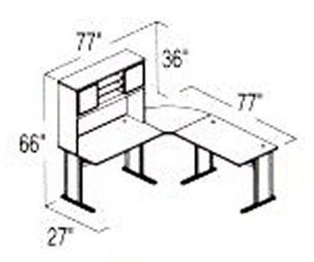 Bush Advantage Medium Cherry Design 6 - Plan For Smaller Work Station