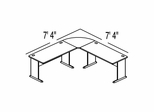 Bush Advantage Medium Cherry Design 9 - Plan For Smaller Work Station