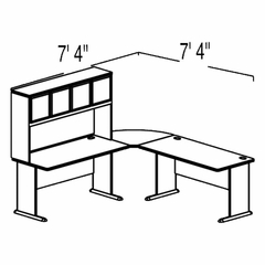 Bush Advantage Pewter Design 10 - Plan For Smaller Work Station