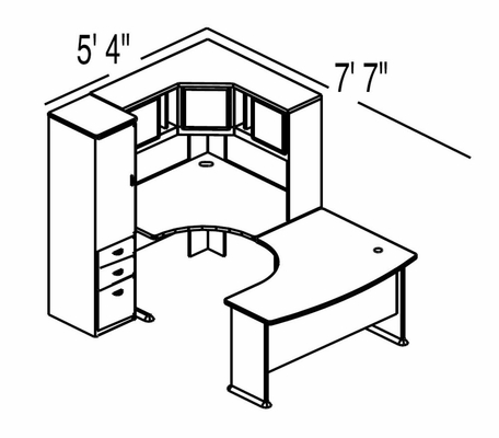 Bush Advantage Pewter Design 11 - Plan For Smaller Work Station