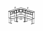 Bush Advantage Pewter Design 26 - Plan For 8' by 9' Work Station
