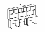 Bush Advantage Pewter Design 34 - Plan For 9' Work Station