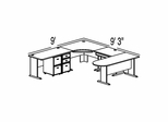 Bush Advantage Pewter Design 36 - Plan For 9' by 10' Work Station