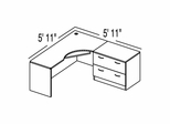 "Bush C Series Corsa Hansen Cherry Design 2 - Plan For 5' 11"" x 5' 11"" Work Station"