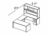 "Bush C Series Corsa Hansen Cherry Design 22 - Plan For 5' 11"" x 8' 5"" Work Station"