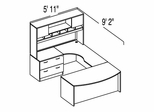 "Bush C Series Corsa Hansen Cherry Design 27 - Plan For 5' 11"" x 9' 2"" Work Station"