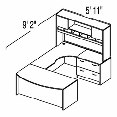 "Bush C Series Corsa Hansen Cherry Design 28 - Plan For 5' 11"" x 9' 2"" Work Station"