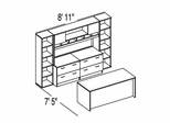 "Bush C Series Corsa Hansen Cherry Design 37 - Plan For 7' 5"" x 8' 11"" Work Station"