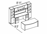 "Bush C Series Corsa Hansen Cherry Design 39 - Plan For 8' 2"" x 8' 11"" Work Station"