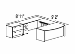 "Bush C Series Corsa Hansen Cherry Design 43 - Plan For 8' 11"" x 9' 2"" Work Station"