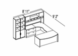 "Bush C Series Corsa Mahogany Design 41 - Plan For 8' 11"" x 9' 2"" Work Station"