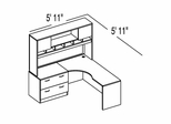 "Bush C Series Corsa Mahogany Design 5 - Plan For 5' 11"" x 5' 11"" Work Station"