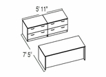 "Bush C Series Corsa Medium Cherry Design 13 - Plan For 5' 11"" x 7' 5"" Work Station"