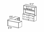 "Bush C Series Corsa Medium Cherry Design 33 - Plan For 5' 11"" x 13' Work Station"