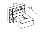"Bush C Series Corsa Medium Cherry Design 36 - Plan For 7' 5"" x 8' 5"" Work Station"