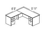 "Bush C Series Corsa Medium Cherry Design 7 - Plan For 5' 11"" x 6' 5"" Work Station"