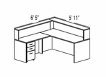 "Bush C Series Corsa Medium Cherry Design 8 - Plan For 5' 11"" x 6' 5"" Work Station"