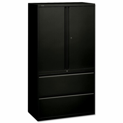 Bush Lateral File Cabinet - Black - HON885LSP