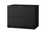 Bush Lateral File Cabinet - Black - LLR60555