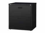 Bush Lateral File Cabinet - Black - LLR60557