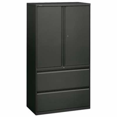 Bush Lateral File Cabinet - Charcoal - HON885LSS