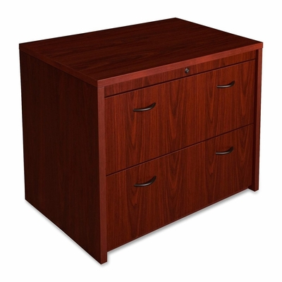 Bush Lateral File Cabinet - Mahogany - LLR68595