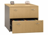 Bush Lateral File Cabinet - Series A Light Oak Collection - WC64354