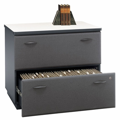 Bush Lateral File Cabinet - Series A Slate Collection - WC84854A