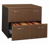 Bush Lateral File Cabinet - Series A Walnut Collection - WC25554