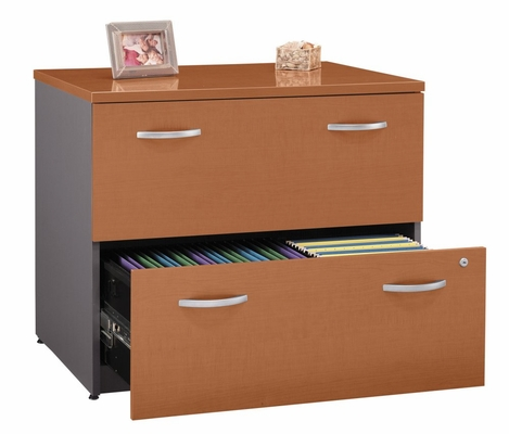 Bush Lateral File Cabinet - Series C Auburn Maple Collection - WC48554A
