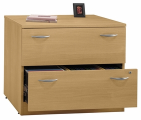Bush Lateral File Cabinet - Series C Light Oak Collection - WC60354