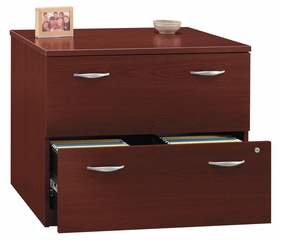 Bush Lateral File Cabinet - Series C Mahogany Collection - WC36754