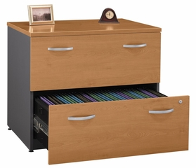 Bush Lateral File Cabinet - Series C Natural Cherry Collection - WC72454A