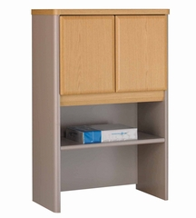 "Bush Series A - 24"" Storage Hutch Light Oak Collection - Bush Office Furniture - WC64325"
