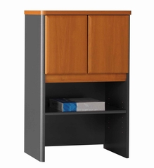 "Bush Series A - 24"" Storage Hutch Natural Cherry Collection - Bush Office Furniture - WC57425"