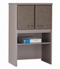 "Bush Series A - 24"" Storage Hutch Pewter Collection - Bush Office Furniture - WC14525"