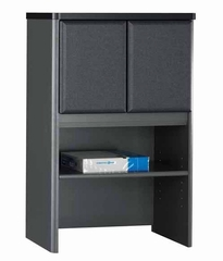 "Bush Series A - 24"" Storage Hutch Slate Collection - Bush Office Furniture - WC84825"
