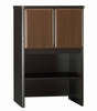 "Bush Series A - 24"" Storage Hutch Walnut Collection - Bush Office Furniture - WC25525"