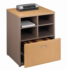 "Bush Series A - 24"" Storage Unit  Light Oak Collection - Bush Office Furniture - WC64323"